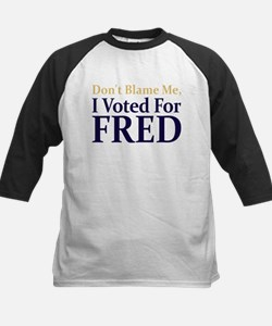 I Voted For FRED Kids Baseball Jersey