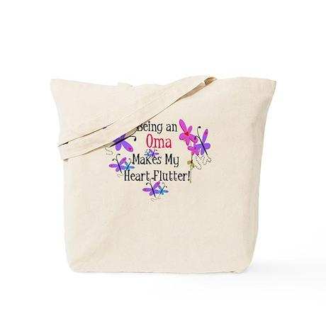 Oma Heart Flutter Tote Bag