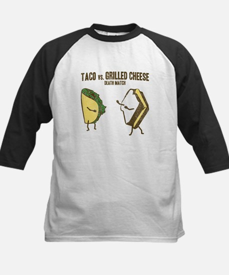Taco VS Grilled Cheese Kids Baseball Jersey