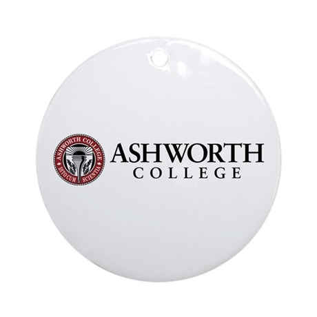 Ashworth College Ornament (round)