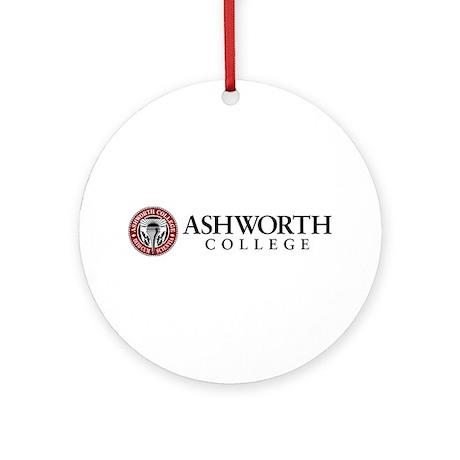 Ashworth College Ornament (round)