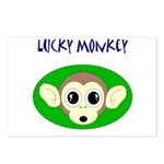 LUCKY MONKEY Postcards (Package of 8)