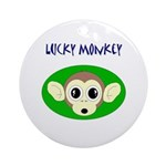 LUCKY MONKEY Keepsake (Round)