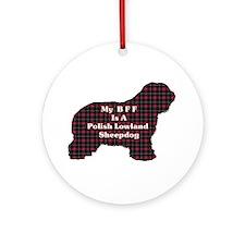 Polish Lowland Sheepdog Gifts Ornament (Round)