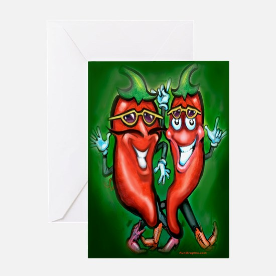 Cool Hot pepper Greeting Card