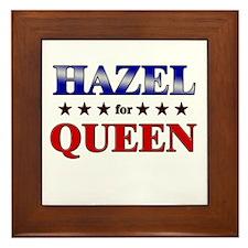 HAZEL for queen Framed Tile