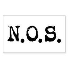 Nitrous Oxide / N.O.S. Rectangle Decal