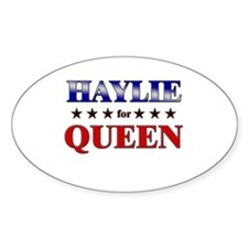 HAYLIE for queen Oval Decal