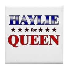 HAYLIE for queen Tile Coaster