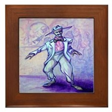 Funny Bluesy Framed Tile
