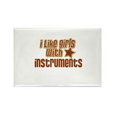 I Like Girls with Instruments Rectangle Magnet