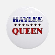 HAYLEE for queen Ornament (Round)