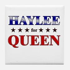 HAYLEE for queen Tile Coaster