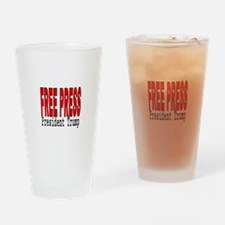 Free Press Drinking Glass