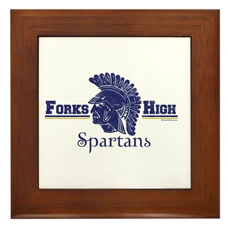 Forks High Spartans Framed Tile