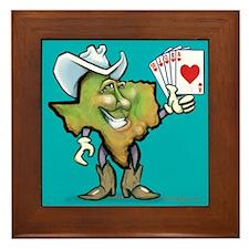 Funny Texas hold em Framed Tile