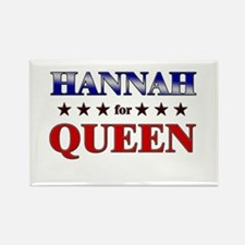 HANNAH for queen Rectangle Magnet