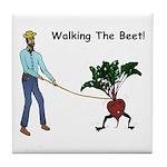Walking The Beet! Tile Coaster
