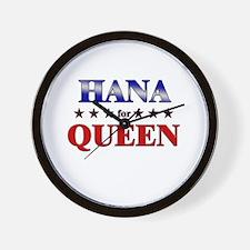 HANA for queen Wall Clock
