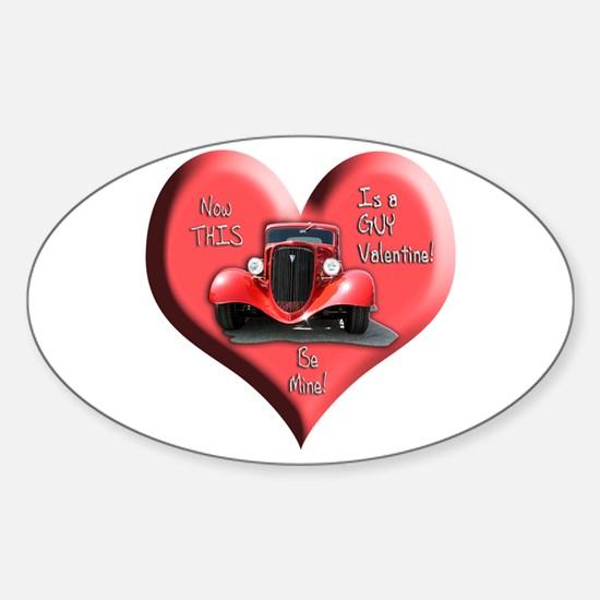 Helaine's GUY Valentine Oval Decal