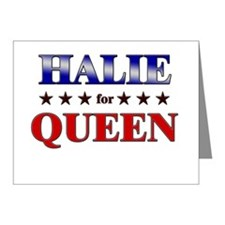HALIE for queen Note Cards (Pk of 20)
