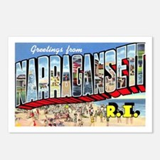 Narragansett Rhode Island Greetings Postcards (Pac
