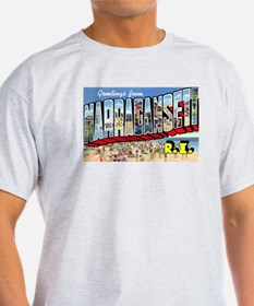 Narragansett Rhode Island Greetings (Front) T-Shirt