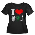 anti Hillary 2008 Women's Plus Size Scoop Neck Dar