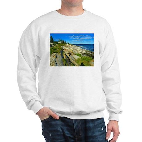 Pemaquid Point (caption) Sweatshirt