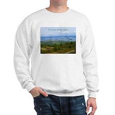 Porcupine Islands (caption) Sweatshirt