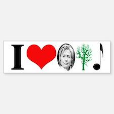 anti Hillary 2008 Bumper Car Car Sticker