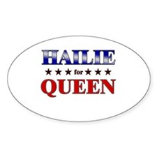 HAILIE for queen Oval Decal