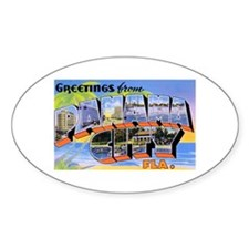 Panama City Florida Greetings Oval Decal