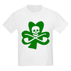 St. Patrick's Day Jolly Roger Kids T-Shirt