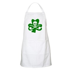 St. Patrick's Day Jolly Roger BBQ Apron