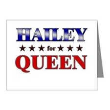 HAILEY for queen Note Cards (Pk of 20)