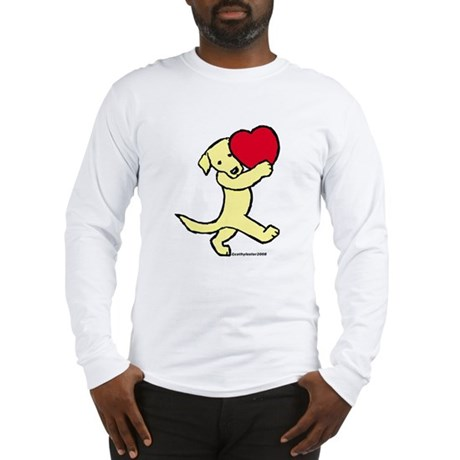 Lab (Yellow) Heart Long Sleeve T-Shirt