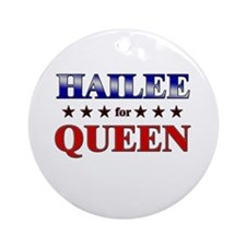 HAILEE for queen Ornament (Round)