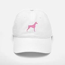 Pink Doberman Baseball Baseball Cap