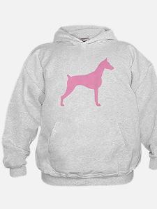 Pink Doberman Hoodie