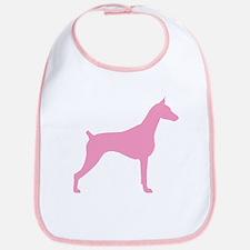 Pink Doberman Bib