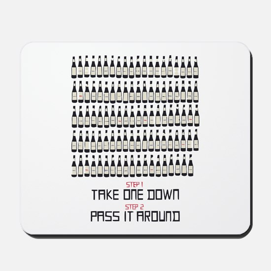 99 Bottles Of Beer On The Wal Mousepad