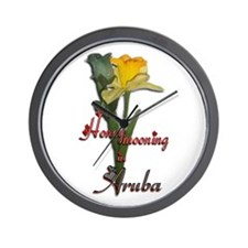 Honeymooning in Aruba Wall Clock