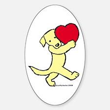 Yellow Labrador Retriever Oval Decal