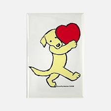 Yellow Labrador Retriever Rectangle Magnet