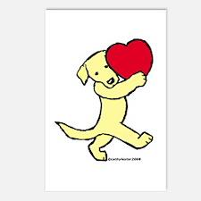 Yellow Labrador Retriever Postcards (Package of 8)