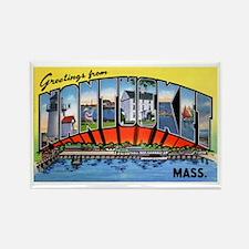 Nantucket Massachusetts Greetings Rectangle Magnet