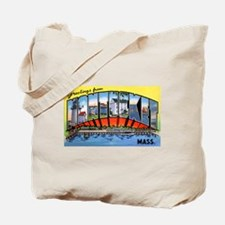Nantucket Massachusetts Greetings Tote Bag