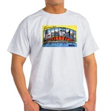 Nantucket Massachusetts Greetings (Front) T-Shirt