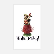 Hula, Baby Rectangle Decal